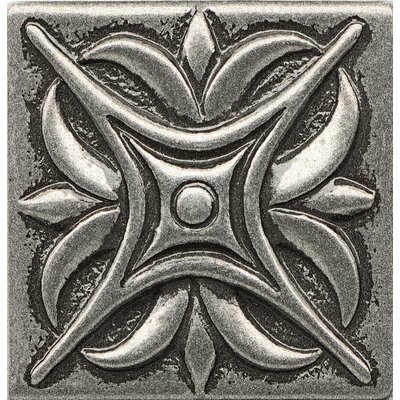 Ambiance Insert Rising Star 2 x 2 Resin Tile in Pewter