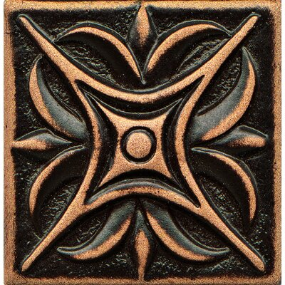 Ambiance Insert Rising Star 2 x 2 Resin Tile in Venetian Bronze