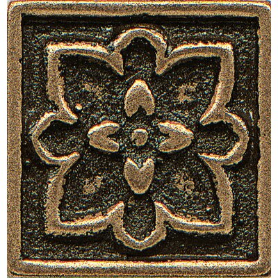 Ambiance Insert Romanesque 1 x 1 Resin Tile in Bronze