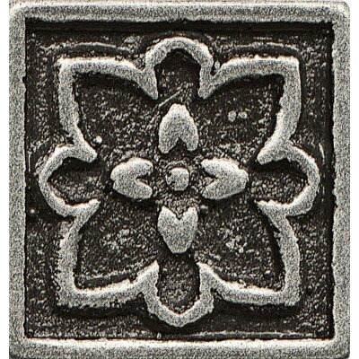 Ambiance Insert Romanesque 1 x 1 Resin Tile in Pewter