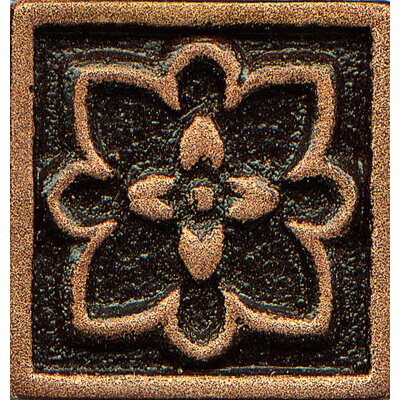 Ambiance Insert Romanesque 1 x 1 Resin Tile in Venetian Bronze