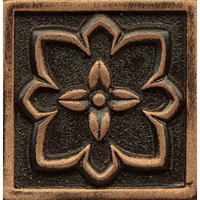 Ambiance Insert Romanesque 2 x 2 Resin Tile in Venetian Bronze