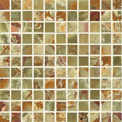 Onyx 1 x 1 Marble Mosaic Tile in Palisades Green
