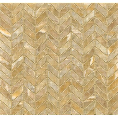 Onyx 12 x 12 Chevron Marble Mosaic Tile in Sweet Honey