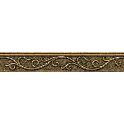 Ambiance Gothic Leaf Liner 1-3/4 x 12 Resin Tile in Bronze