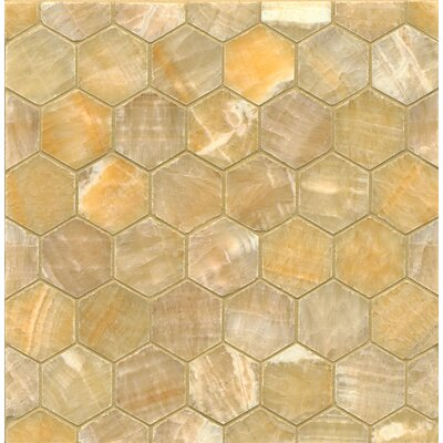Onyx Hexagon Marble Polished Mosaic Tile in Sweet Honey
