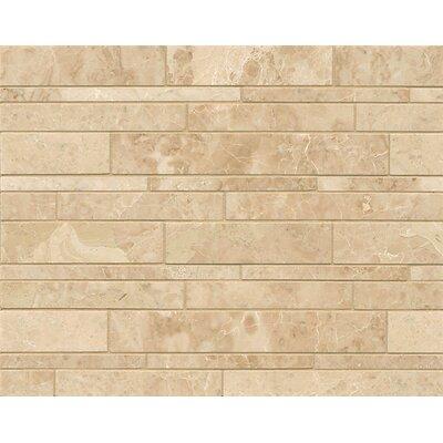 Linear Random Sized Marble Mosaic Tile in Cappuccino