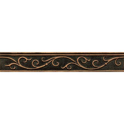 Ambiance Gothic Leaf Liner 1-3/4 x 12 Resin Tile in Venetian Bronze