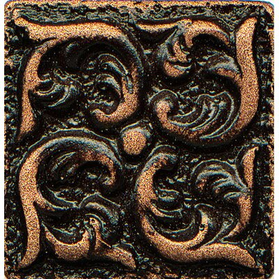 Ambiance Insert Wave 1 x 1 Resin Tile in Venetian Bronze