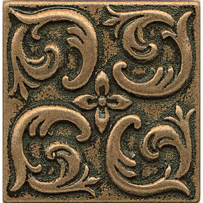Ambiance Insert Wave 2 x 2 Resin Tile in Bronze
