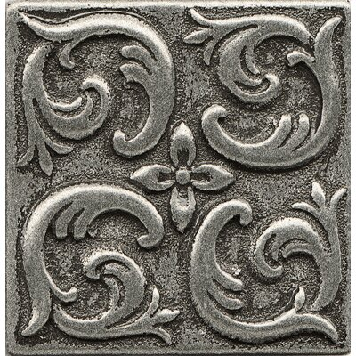 Ambiance Insert Wave 2 x 2 Resin Tile in Pewter