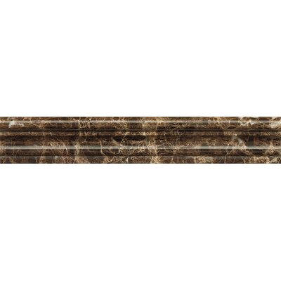 Chair Rail 2 x 12 Marble Polished Tile in Emperador Dark