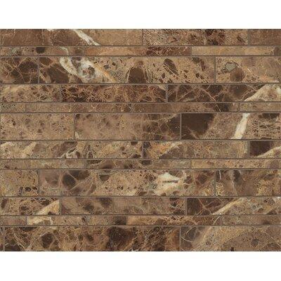 Random Linear Marble Polished Mosaic Tile in Emperador Dark