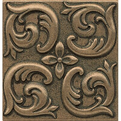 Ambiance Insert Wave 4 x 4 Resin Tile in Bronze