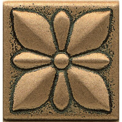 Ambiance Insert Jasmine 2 x 2 Resin Tile in Bronze