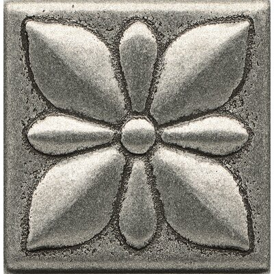 Ambiance Insert Jasmine 2 x 2 Resin Tile in Pewter