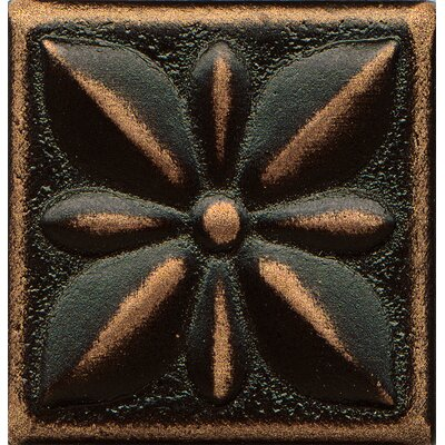 Ambiance Insert Jasmine 2 x 2 Resin Tile in Venetian Bronze
