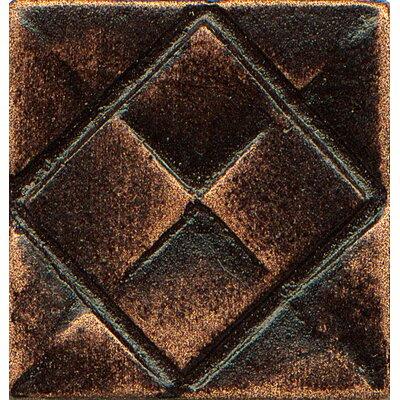 Ambiance Insert Matrix City 1 x 1 Resin Tile in Venetian Bronze
