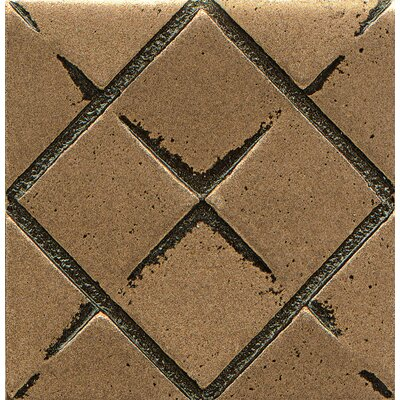 Ambiance Insert Matrix City 2 x 2 Resin Tile in Bronze