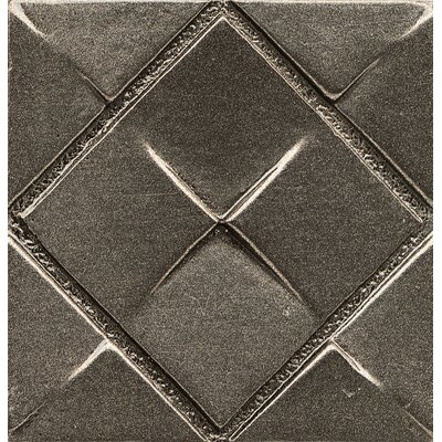 Ambiance Insert Matrix City 2 x 2 Resin Tile in Brushed Nickel