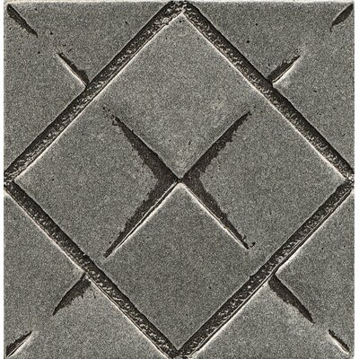 Ambiance Insert Matrix City 2 x 2 Resin Tile in Pewter