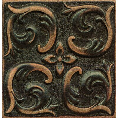 Ambiance Insert Wave 4 x 4 Resin Tile in Venetian Bronze