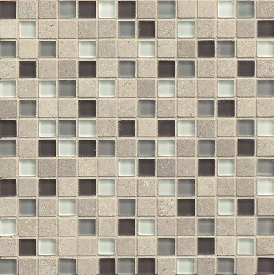 Interlude 0.75 x 0.75 Stone and Glass MosaicTile in Prelude