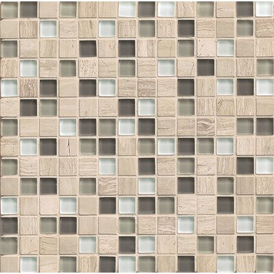 Interlude 0.75 x 0.75 Stone and Glass Mosaic Tile in Stacatto