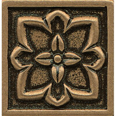 Ambiance Insert Romanesque 2 x 2 Resin Tile in Bronze