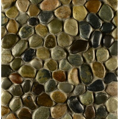 Hemisphere Random Sized Stone Pebble Tile in Glazed Riverbed