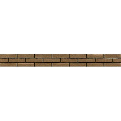 Ambiance Stagg Brick Liner 1-1/4 x 12 Resin Tile in Bronze
