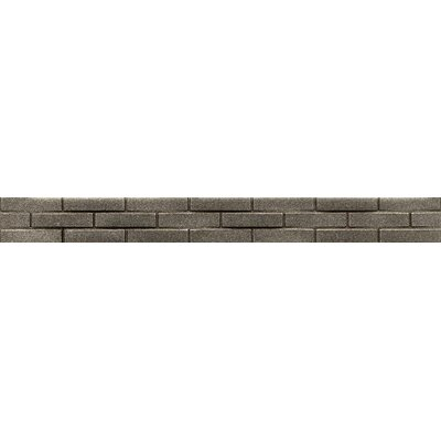 Ambiance Stagg Brick 1-1/4 x 12 Resin Tile in Brushed Nickel