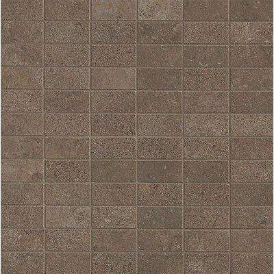 Tribeca 1 x 2 Porcelain Mosaic Tile in Brown