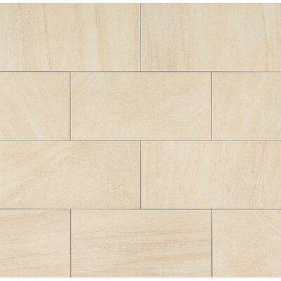 Purestone 12 x 24 Porcelain Wood Look/Field Tile in Beige