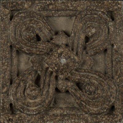 Marmi Di Napoli Deco Insert 2.5 x 2.5 Resin Tile in Bruno Di Pietra