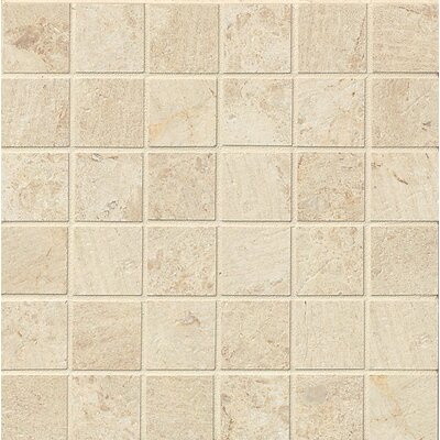 Classic Moderne 2 x 2 Porcelain MosaicTile in Cr�me