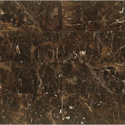 12 x 24 Marble Field Tile in Emperador Dark