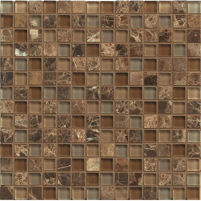Interlude 0.75 x 0.75 Stone and Glass MosaicTile in Duet