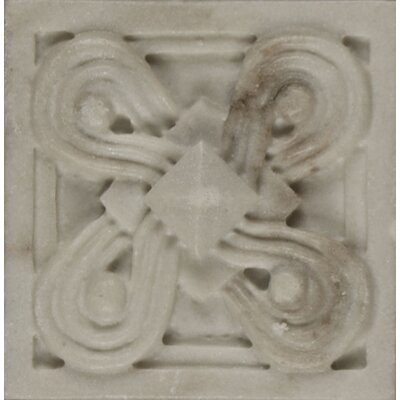 Marmi Di Napoli Deco Insert 2.5 x 2.5 Resin Tile in Calacatta