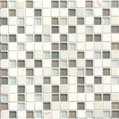 Interlude 0.75 x 0.75 Stone and Glass Mosaic Tile in Harmony