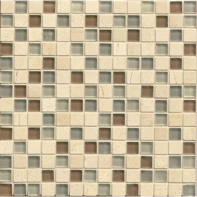 Interlude 0.75 x 0.75 Stone and Glass Mosaic Tile in Musette