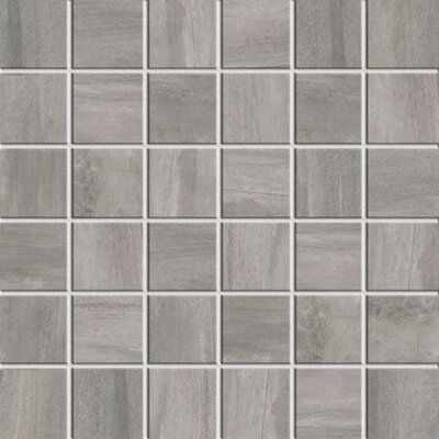 Athena 2 x 2 Porcelain Mosaic Tile in Glazed Ash