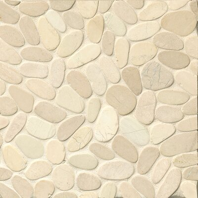 Hemisphere Random Sized Stone Pebble Tile in Bali White
