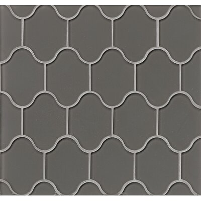 La Palma Glass Mosaic Tile in Glossy Taupe