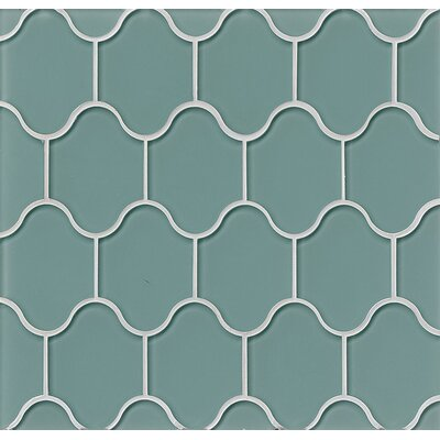 Mallorca Glass Mosaic Tile in Glossy Sail