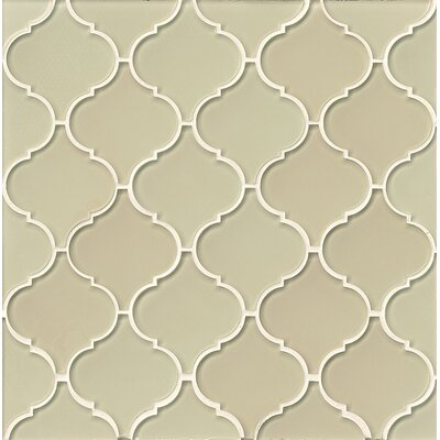 La Palma Glass Mosaic Tile in Glossy Sand