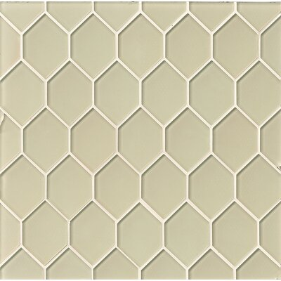 La Palma Glass Mosaic Tile in Sand