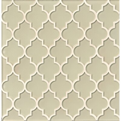 Mallorca Glass Mosaic Tile in Glossy Sand