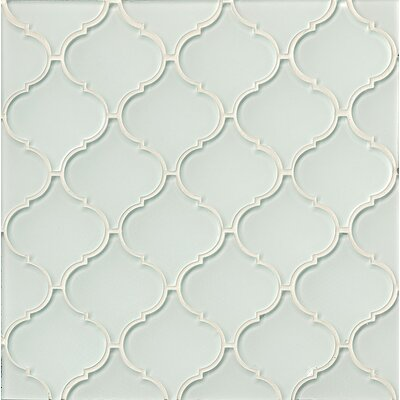 Mallorca Glass Mosaic Tile in Glossy White Linen