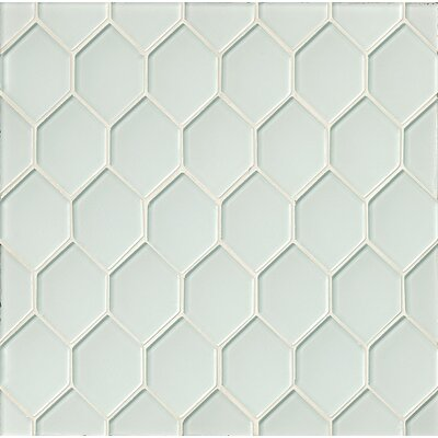 La Palma Glass Mosaic Tile in White